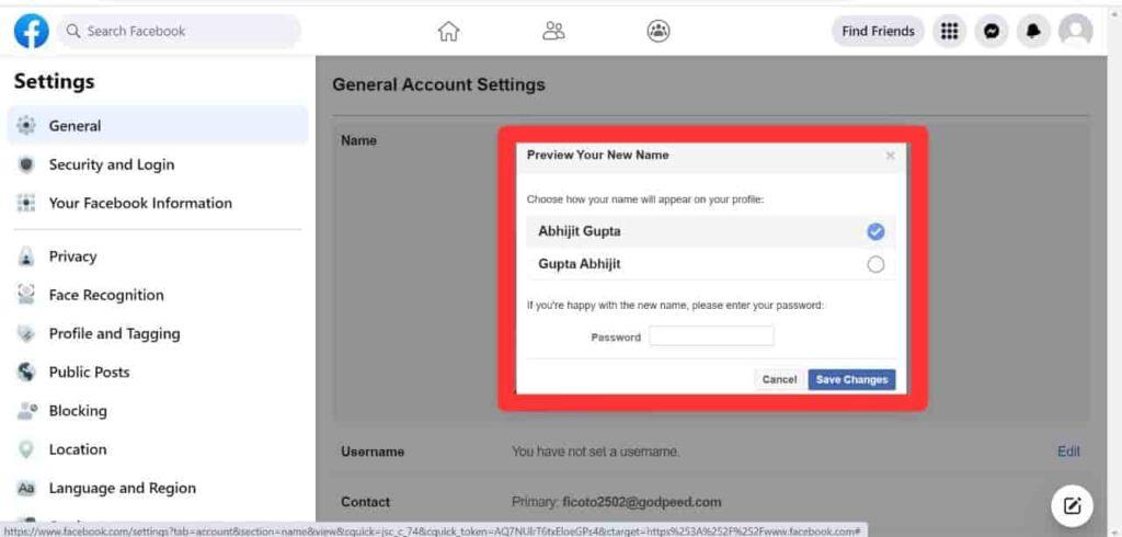 Facebook पर अपना नाम कैसे Change करें Fb पर Profile नाम कैसे चेंज करें How to change facebook name in hindi Facebook पर अपना नाम Change करने का तरीका Facebook पर मेरा नाम चेंज करना हैं